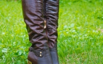 knee high leather sexy boots
