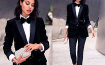 Formal look with a deux piece women suit