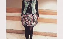 CRISTINA S. (jeans vest, printed skirt, cute outfit)