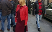 GABRIELA N. (red leather jacket, burgundy shirt, burgundy boots)